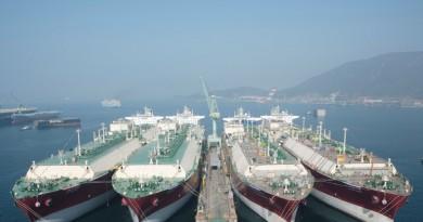 Los tres mayores Astilleros Surcoreanos presentan pérdidas y plantean 3.000 despidos