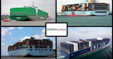 CMA-CGM, COSCO, EVERGREEN y OOCL se unen en la Ocean Alliance para hacer frente a la 2M