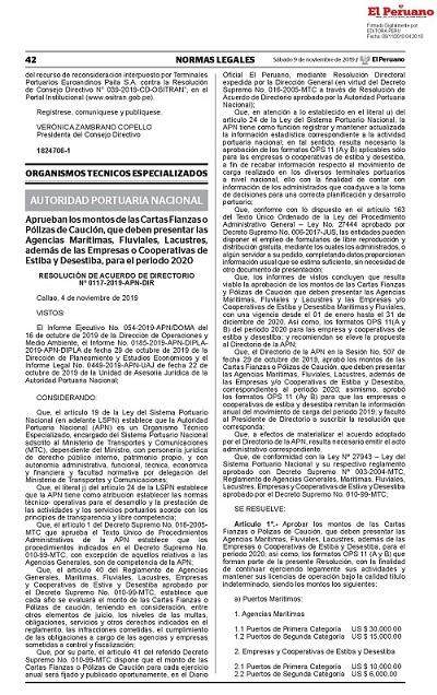 RAD N° 0117 2019 APN DIR MONTOS DE CARTAS FIANZAS O POLIZAS DE CAUCION AGENCIAS 2020_Página_1