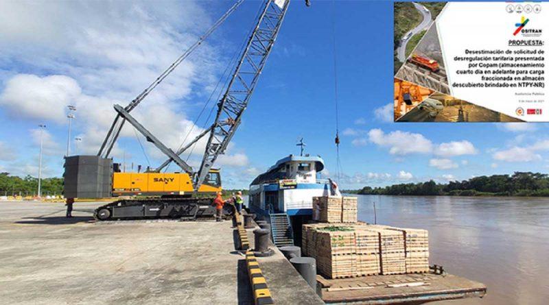 Ositrán propone desestimar solicitud de desregulación tarifaria en Nuevo Terminal Portuario de Yurimaguas-Nueva Reforma